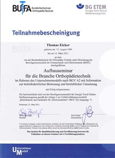 Bundesverband Freier Sachverständiger Bandagist, Rehatechniker
